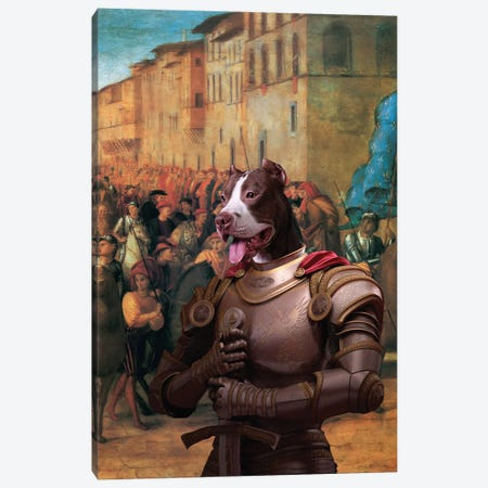 American Staffordshire Terrier Charles Viii At Florence Canvas Print #NDG1455} by Nobility Dogs Canvas Art Print
