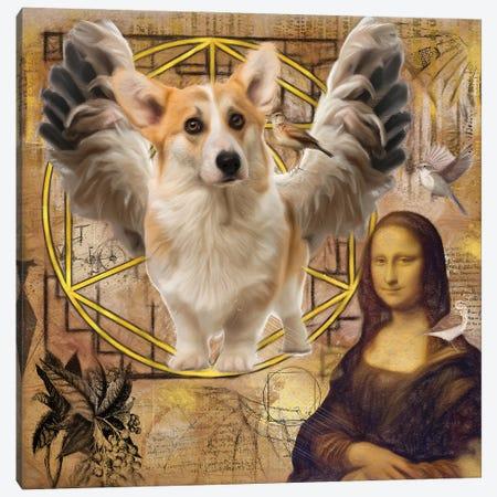 Welsh Corgi Angel Da Vinci Canvas Print #NDG145} by Nobility Dogs Canvas Artwork