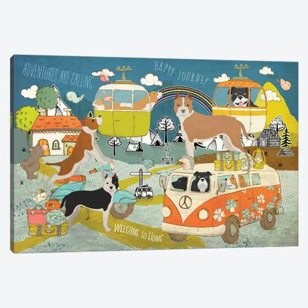 American Staffordshire Terrier Happy Journey Canvas Print #NDG1460} by Nobility Dogs Canvas Print