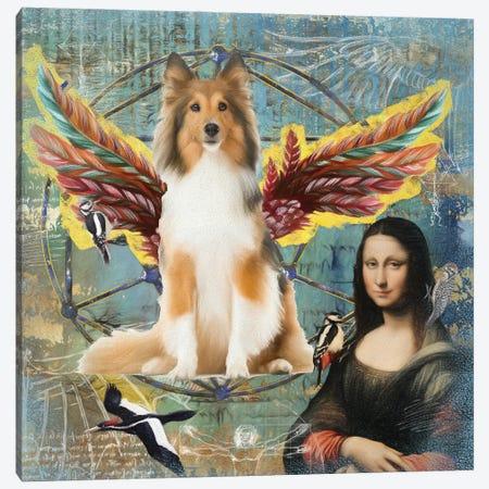 Shetland Sheepdog Sable Sheltie Angel Canvas Print #NDG148} by Nobility Dogs Canvas Print