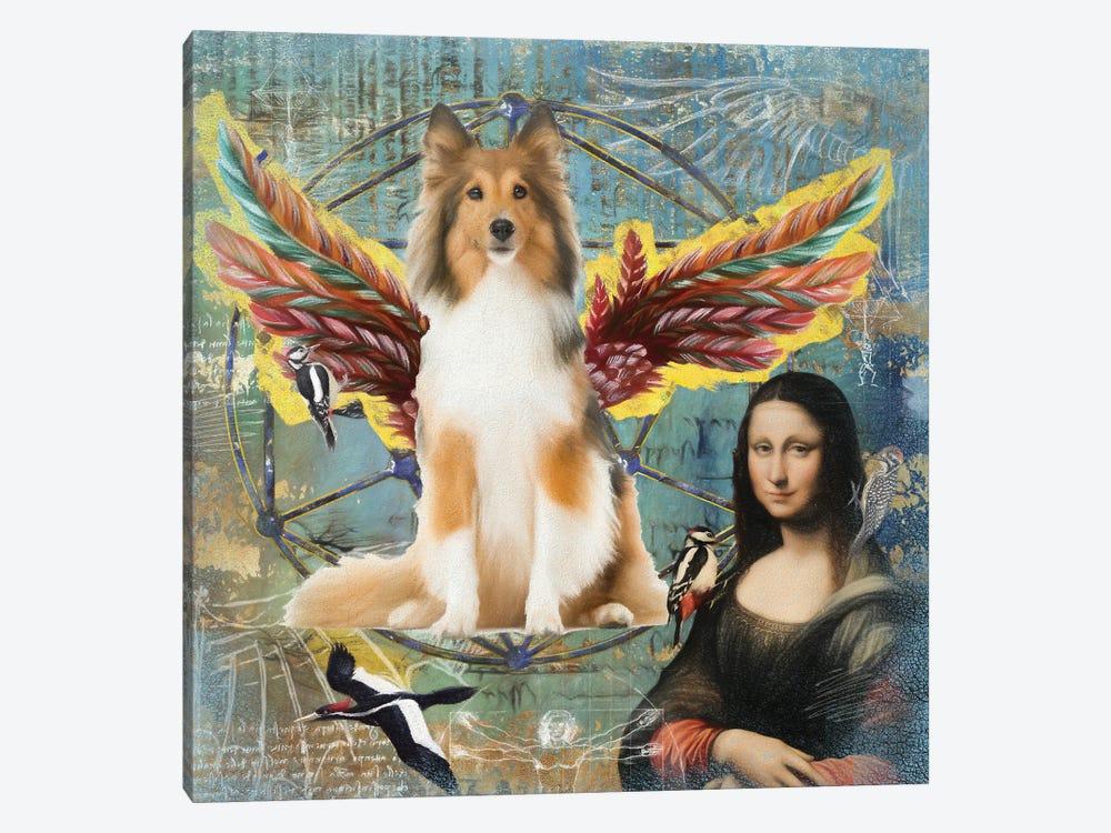 Shetland Sheepdog Sable Sheltie Angel by Nobility Dogs 1-piece Canvas Print