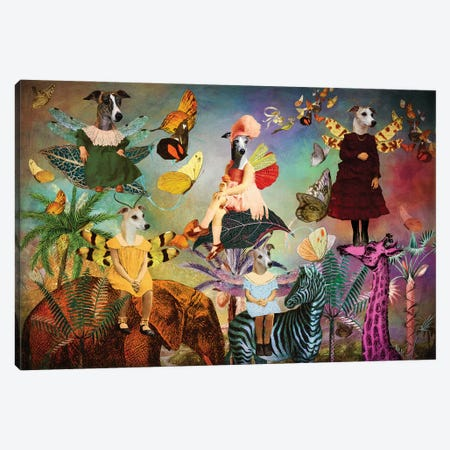 Whippet Fairy Queen Canvas Print #NDG1498} by Nobility Dogs Canvas Art