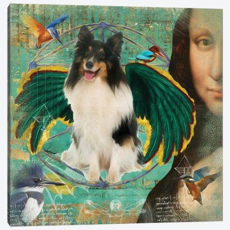 Shetland Sheepdog Tri Color Sheltie Angel Canvas Print #NDG149} by Nobility Dogs Canvas Print