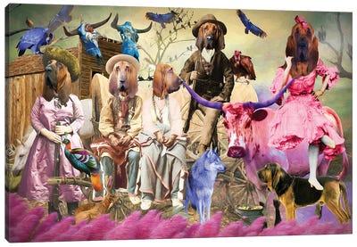 Bloodhound Wild Wild West Canvas Art Print