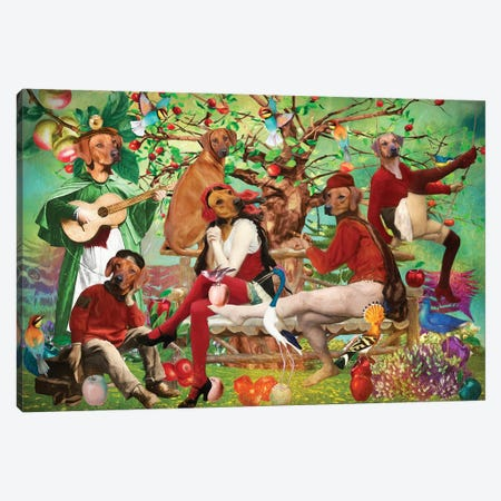 Rhodesian Ridgeback In The Shade Of The Old Apple Tree Canvas Print #NDG1506} by Nobility Dogs Canvas Print