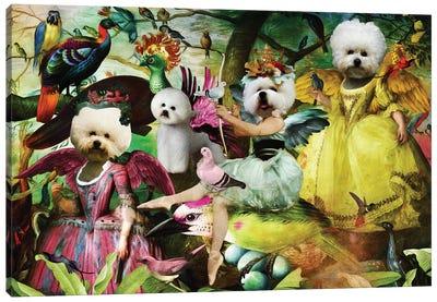 Bichon Frise Bird's Paradise Canvas Art Print