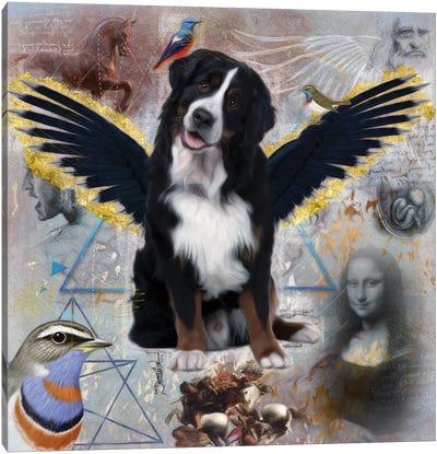 Bernese Mountain Dog Angel Da Vinci Canvas Art Print