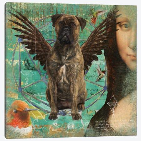 Brindle Bullmastiff Angel Da Vinci Canvas Print #NDG151} by Nobility Dogs Canvas Artwork