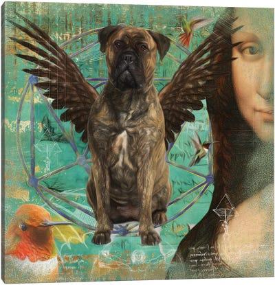 Brindle Bullmastiff Angel Da Vinci Canvas Art Print