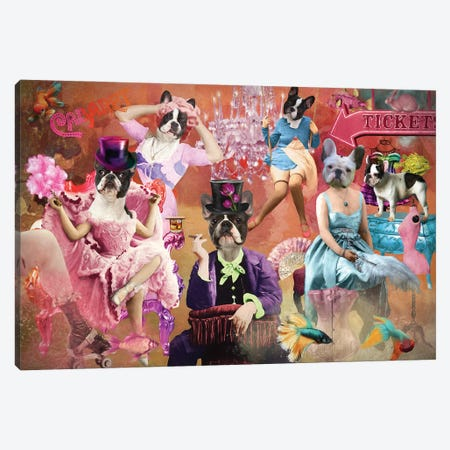 French Bulldog Life Is A Cabaret Canvas Print #NDG1520} by Nobility Dogs Canvas Artwork