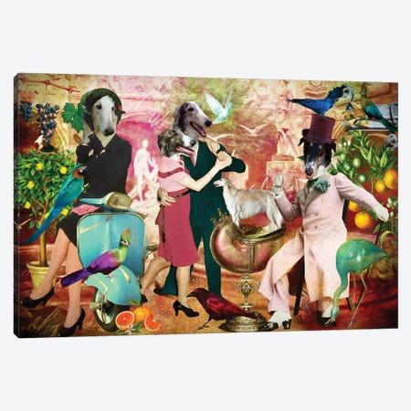 Borzoi La Dolce Vita Canvas Print #NDG1538} by Nobility Dogs Canvas Art Print