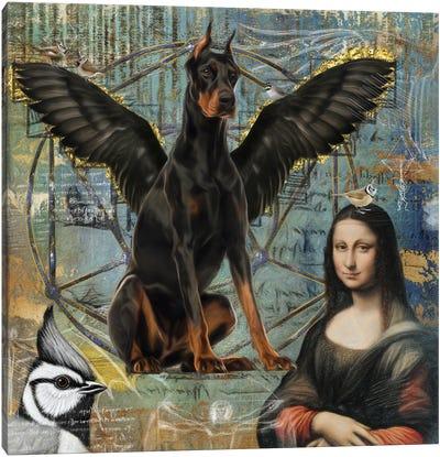 Doberman Pinscher Angel Da Vinci Canvas Art Print