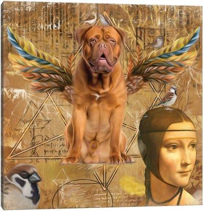 Dogue De Bordeaux Angel Da Vinci Canvas Art Print