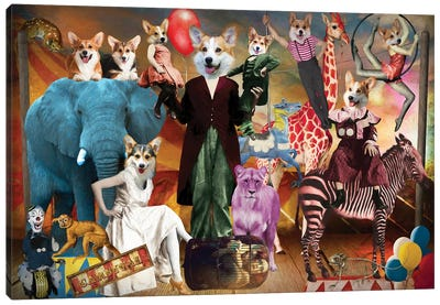 Pembroke Welsh Corgi American Horror Story Canvas Art Print