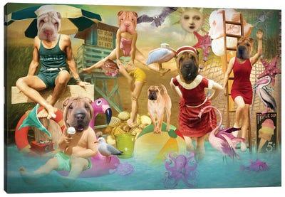 Shar Pei Summertime Canvas Art Print