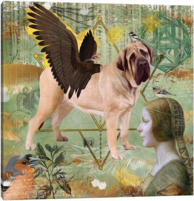 English Mastiff Angel Da Vinci Canvas Art Print