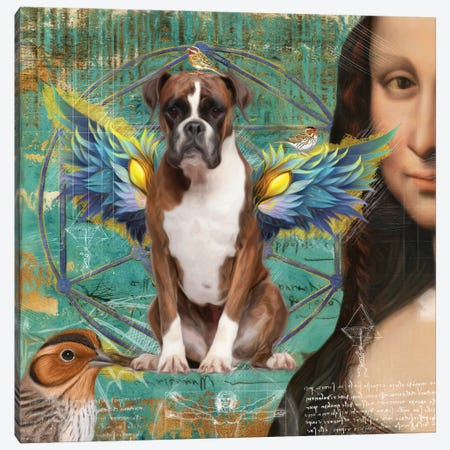 Brindle Boxer Dog Angel Canvas Print #NDG157} by Nobility Dogs Canvas Print