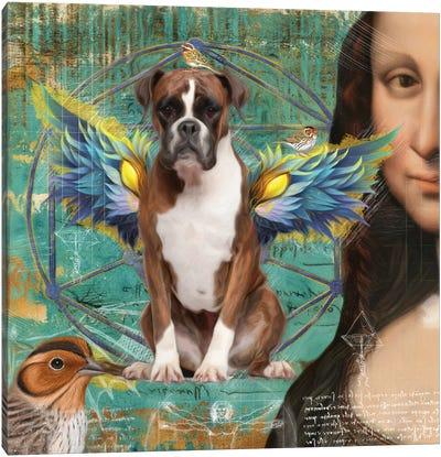 Brindle Boxer Dog Angel Canvas Art Print