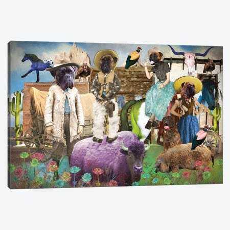 Bullmastiff Take Me Home, Country Roads Canvas Print #NDG1582} by Nobility Dogs Canvas Artwork