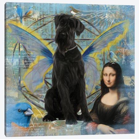 Black Schnauzer Angel Da Vinci Canvas Print #NDG158} by Nobility Dogs Canvas Art