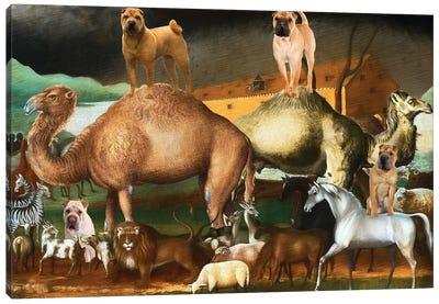 Shar Pei Noah's Ark Canvas Art Print