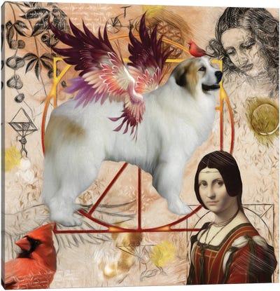 Great Pyrenees Angel Da Vinci Canvas Art Print