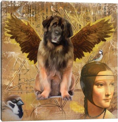 Leonberger Angel Da Vinci Canvas Art Print