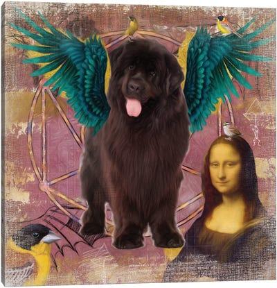 Newfoundland Dog Angel Canvas Art Print