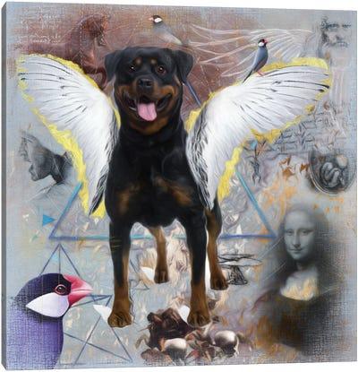 Rottweiler Angel Da Vinci Canvas Art Print
