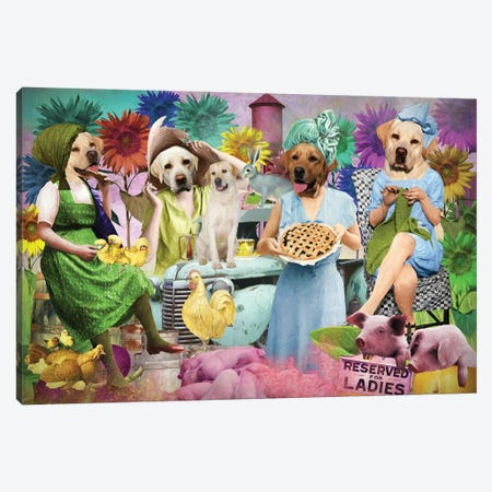 Labrador Retriever Farmer's Daughter Canvas Print #NDG1651} by Nobility Dogs Canvas Wall Art
