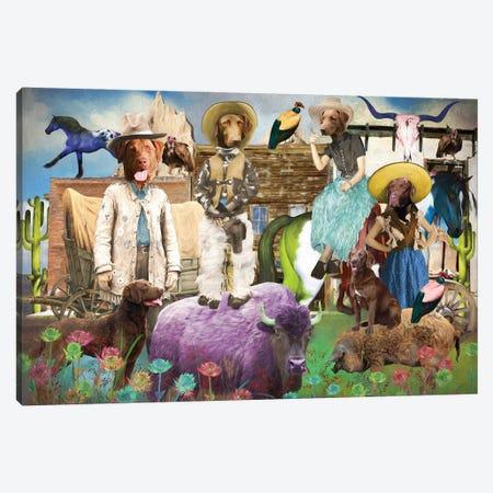 Chesapeake Bay Retriever Take Me Home, Country Roads Canvas Print #NDG1663} by Nobility Dogs Canvas Art Print