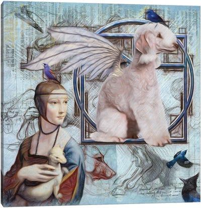 Bedlington Terrier Angel Da Vinci Canvas Art Print