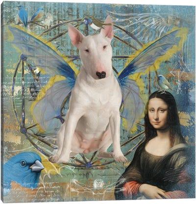 Bull Terrier Angel Da Vinci Canvas Art Print