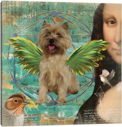 Cairn Terrier Angel Da Vinci Canvas Art Print