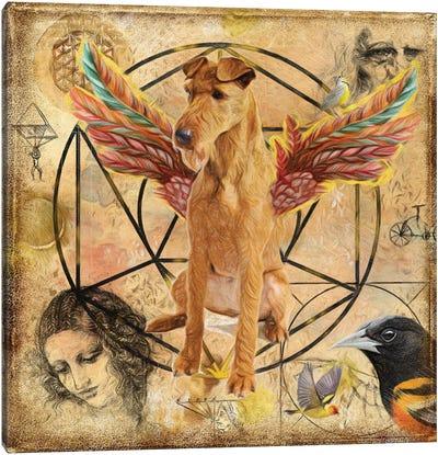 Irish Terrier Angel Da Vinci Canvas Art Print