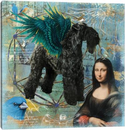 Kerry Blue Terrier Angel Da Vinci Canvas Art Print