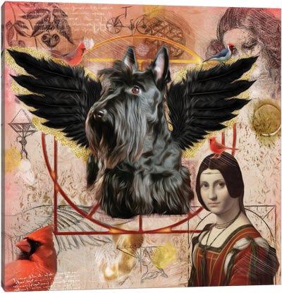 Scottish Terrier Angel Da Vinci Canvas Art Print