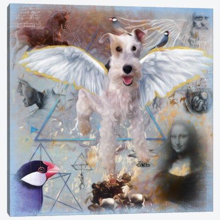 Wire Fox Terrier Angel Da Vinci Canvas Print #NDG178} by Nobility Dogs Canvas Art