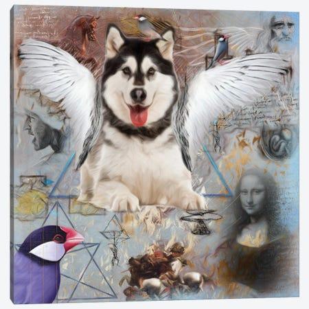 Alaskan Malamute Angel Canvas Print #NDG181} by Nobility Dogs Canvas Print