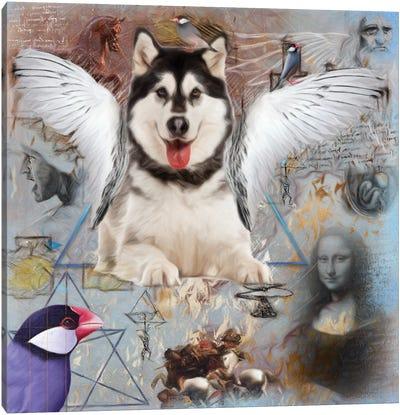 Alaskan Malamute Angel Canvas Art Print