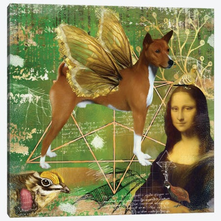 Basenji Angel Da Vinci Canvas Print #NDG183} by Nobility Dogs Canvas Art Print
