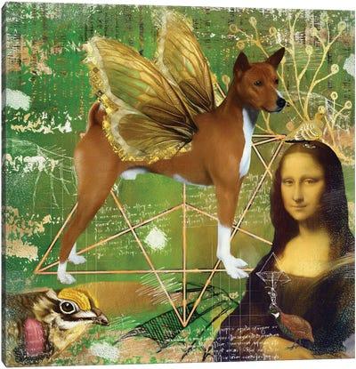 Basenji Angel Da Vinci Canvas Art Print