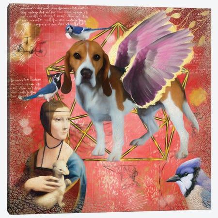 Beagle Angel Da Vinci Canvas Print #NDG187} by Nobility Dogs Canvas Art