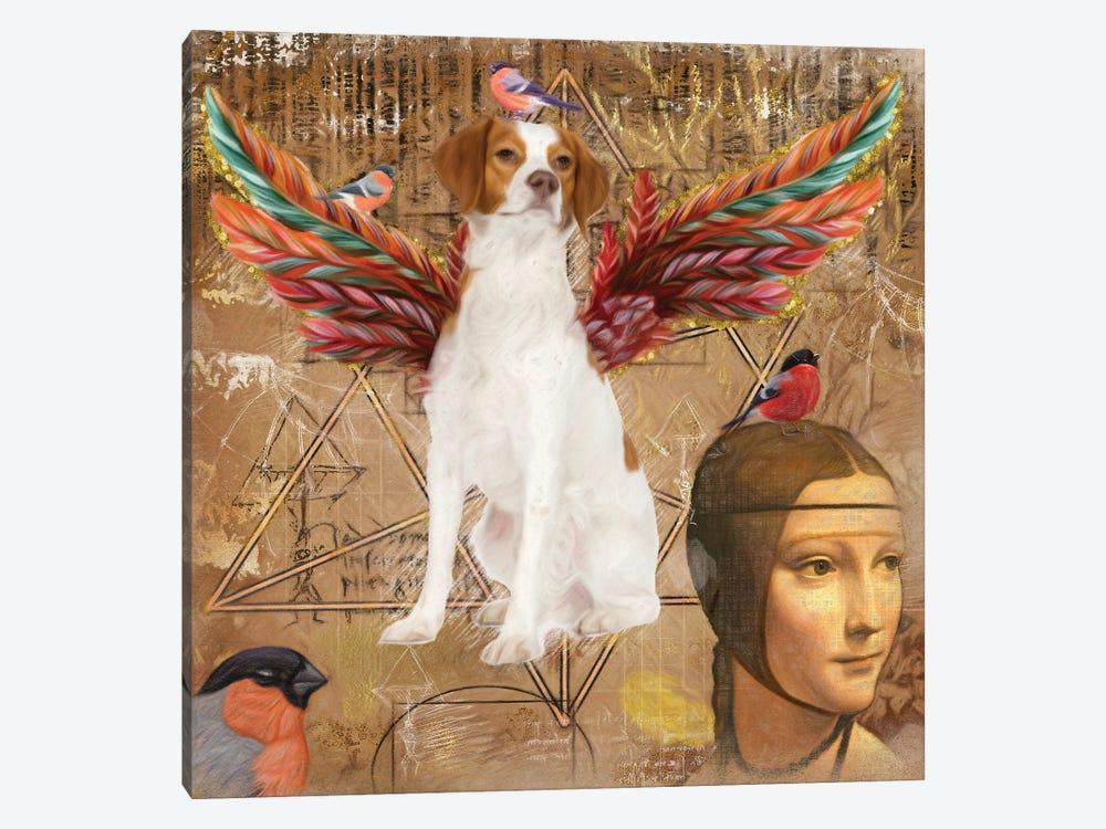 Brittany Spaniel Angel Da Vinci by Nobility Dogs 1-piece Canvas Wall Art