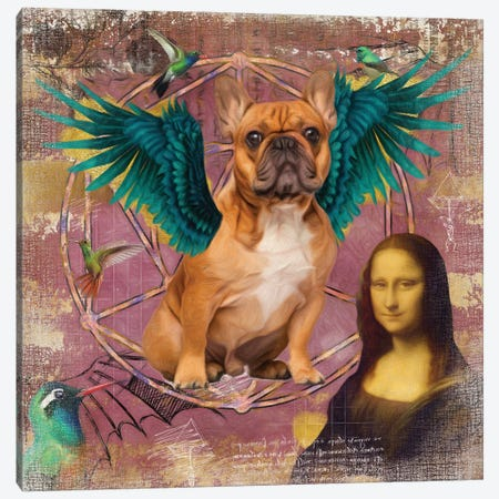 Fawn French Bulldog Frenchie Angel Canvas Print #NDG18} by Nobility Dogs Canvas Print