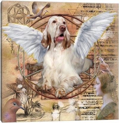 English Setter Angel Da Vinci Canvas Art Print