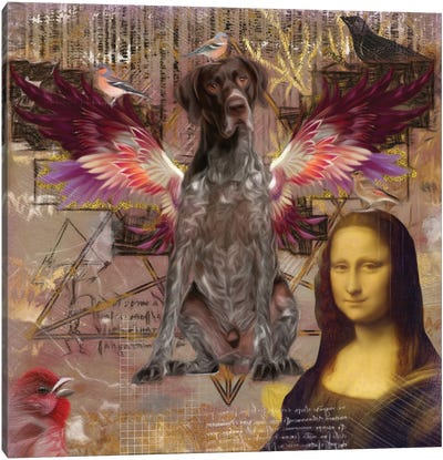 German Shorthaired Pointer Angel Da Vinci Canvas Art Print