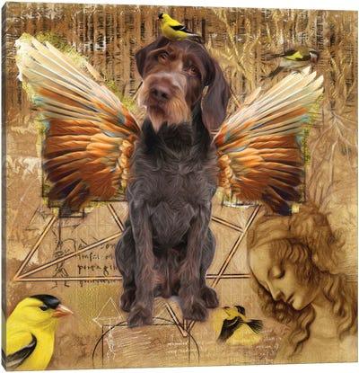 German Wirehaired Pointer Angel Da Vinci Canvas Art Print
