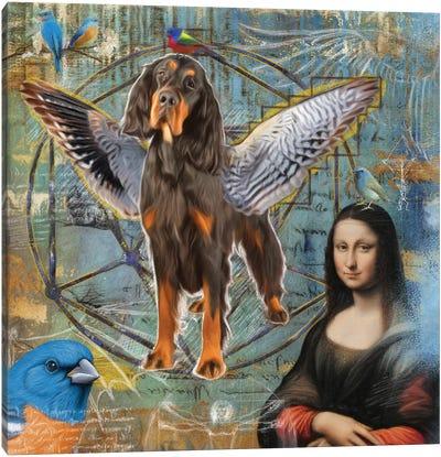 Gordon Setter Angel Da Vinci Canvas Art Print