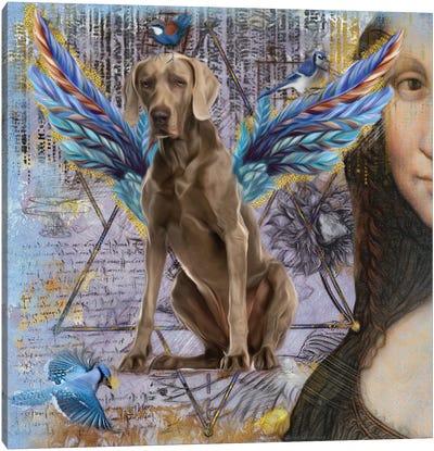 Weimaraner Angel Da Vinci Canvas Art Print